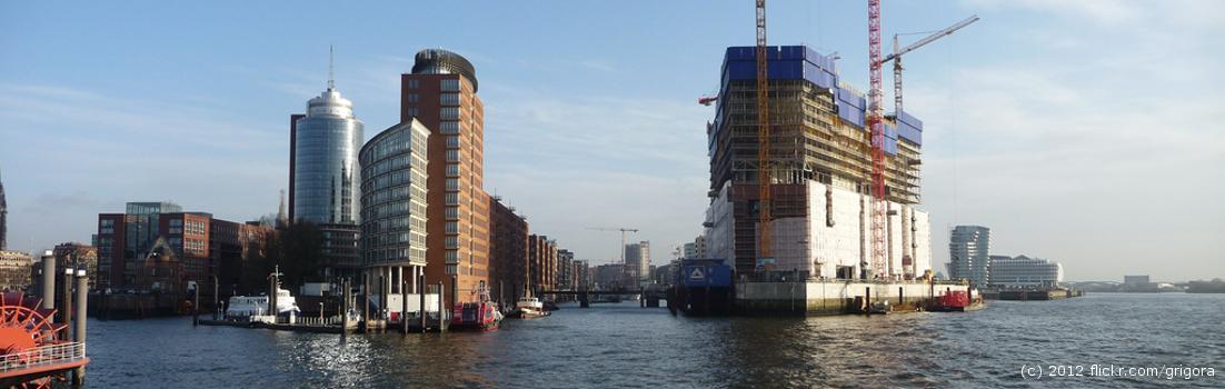 Headerbild : Die Elbe an der Speicherstadt in Hamburg | Angewandte